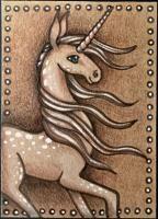 """Unicorn in Sepia"" by GwennieJo."