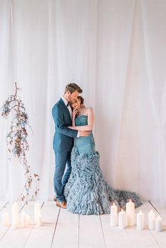 Brautkleid blau - Nordischer Vintage Chic in Blau und Weiß | Hochzeitsblog The Little Wedding Corner