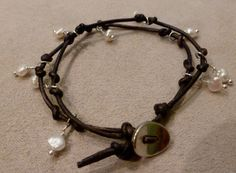 This is a new design I can make for $25--on ETSY.  Leather & Freshwater Pearls.