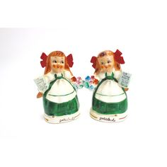 Vintage Goldilocks Salt Pepper Set, Relco, MINT, 1950s, Cottage Chic... ($36) ❤ liked on Polyvore featuring home, kitchen & dining, serveware and bear salt and pepper shakers