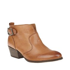 VIVVIE COGNAC LEATHER women's bootie mid lace up - Steve Madden