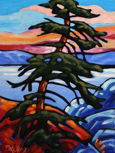 Bob Arrigo - Jack Pine Joys Landscape Art, Landscape Paintings, Arbutus Tree, Canadian Art, Art For Art Sake, Mondrian, Tree Art, Mosaic Art, Unique Art