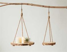 Hanging Round Wood Slice Shelf - Hanging Shelf - Delirious by Design Mens Room Decor, Room Decor Bedroom, Diy Home Decor, Wood Home Decor, Creation Deco, Wood Rounds, Aesthetic Room Decor, Wood Slices, Tree Slices