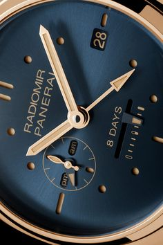 mlsg:  bluezanoni:  RADIOMIR 8 DAYS GMT ORO ROSSO  ( ø 45 mm ) /...