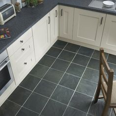 Kitchen Tiles Grey 11.49 sqm - wickes cavan slate effect matt porcelain floor tile
