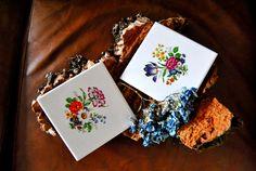 Pack 2x Portuguese flowers tiles , azulejo de flores.(6x6inch  15x15cm) de VintageNiceShop en Etsy