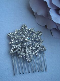 AVA ~~~ Bridal Silver with Austrian Crystals Snowflake Hair Comb Winter Wedding Inspiration, Wedding Ideas, Diy Hairstyles, Wedding Hairstyles, Winter Wonderland Theme, Snowflake Wedding, Ball Birthday, Crystal Snowflakes, Austrian Crystal