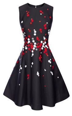 FLORAL BEADED PROM DRESS