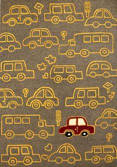 modernrugs.com On the move Grey Modern Kids Rug