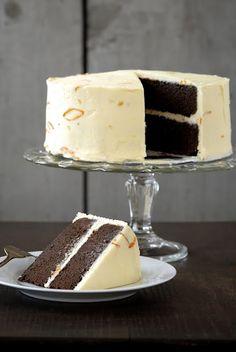 Chocolate Cake with Kumquat Marmalade Frosting from Kumquat