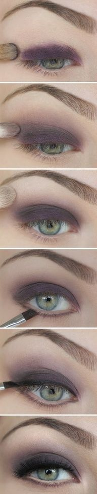 Make-up for green eyes :) #Home