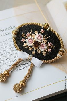 Amazing Embroidery Designs features amazing works of embroidery and recommends embroidery tools to make your creative embroidery designs become reality. Bead Embroidery Jewelry, Silk Ribbon Embroidery, Embroidery Stitches, Embroidery Patterns, Hand Embroidery, Beaded Jewelry, Fabric Beads, Fabric Jewelry, Brooches Handmade