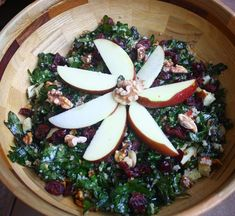 Massaged kale salad  I have a friend that lost over 100 pounds this year with this as one of her foundation foods!