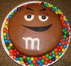 Tarta casera de M&M's