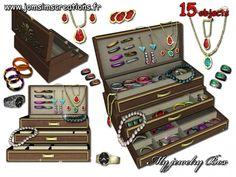 My jewelry box set by Jomsims - Sims 3 Downloads CC Caboodle