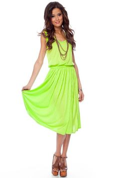 Just bought this lime green dress for the cruise! :) Can't wait!