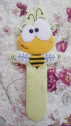 Marca-página da abelha.