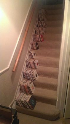 You can always find room to stack records. #djculture #records #vinyl http://www.pinterest.com/TheHitman14/for-the-record/