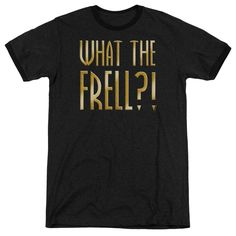 Farscape - What The Frell Adult Ringer T- Shirt