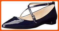 Nine West Women's Anastagia Synthetic Pointed Toe Flat, Navy, 8 M US - All about women (*Amazon Partner-Link)