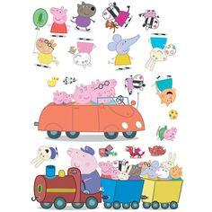 GBP - 20 Peppa Pig Stickarounds Stickers Stickerounds Self Adhesive Bedroom Stickers & Garden Peppa Pig Juegos, Cumple Peppa Pig, Bedroom Stickers, Wall Stickers, Peppa Pig Familie, Peppa Pig Wallpaper, Peppa Pig Stickers, Peppa Pig Imagenes, Daughters