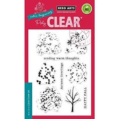 "Hero Arts Clear Stamps 4""X6""-Color Layering Fall Trees"