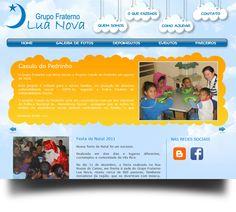 Site Grupo Fraternal Lua Nova