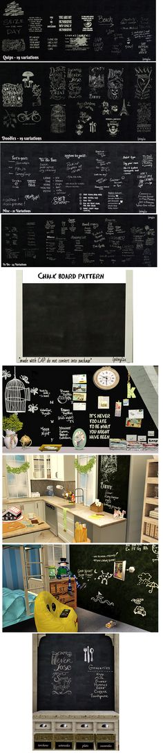 Sims 3 - Chalk Wall Writing by lpvinyl21  download at: http://www.blackpearlsims.com/downloads.php?do=file&id=6949  #sims3 #sims3decor #sims3kids #sims3chalk