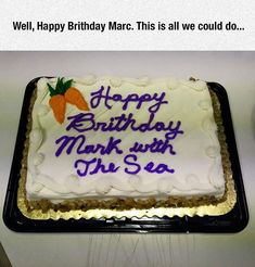 Mark with the sea. Literal cake.