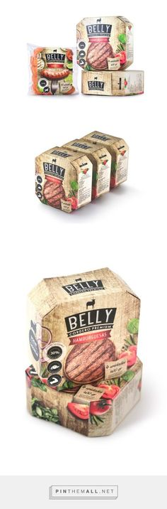 Belly #gourmet #meat #packaging designed by ImasD​ - http://www.packagingoftheworld.com/2015/05/belly.html