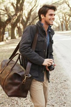 Want more men's fashion inspiration? Join our mailing list! Text fashionmenswear to 22828 to get inspiration directly to your inbox! #menswear Take a look the trendy duffel bag for ever day