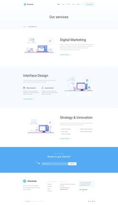 Buy Atomlab - Multi-Purpose Startup Sketch Template by ThemeSun on ThemeForest. Atomlab – Multi-Purpose Startup Sketch Template Antomlab is a Multipurpose Sketch template with 18 homepages. Website Design Inspiration, Landing Page Inspiration, Website Design Layout, Layout Design, Minimal Web Design, Web Ui Design, Web Design Trends, Wordpress, Landing Page Design