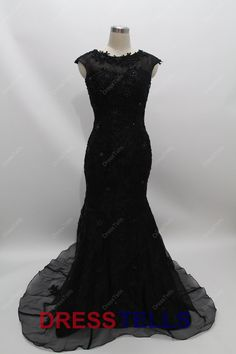 Prom Dress  Long Black Prom Dress / Mermaid Sheath by dresstells, $359.99