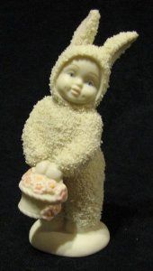 snow bunny figurines  | ... Snowbabies Snow Bunny With Basket Of Flowers Figurine: Everything Else