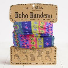 Blue, Pink & Mustard Boho Bandeau By Natural Life