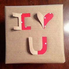 I Love You, kado verpakking.