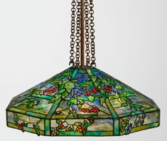 Dreaming in Glass Masterworks by Tiffany and La Farge - View AUCTION DETAILS, bid, buy and collect the various prints and artworks at Sothebys Art Auc. Tiffany Lamp Shade, Tiffany Chandelier, Chandelier Shades, Tiffany Glass, Leaded Glass, Glass Art, Glass Lamps, Glass Design, Lanterns