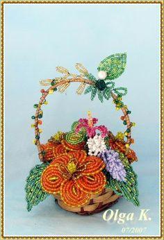 Цветы - beaded flowers - Olga Kushelev - Picasa Web Album