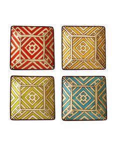 Geometric Appetizer Plates