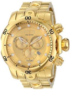 awesome Men's 14503 Venom Analog Display Swiss Quartz Gold Watch - For Sale Check more at http://shipperscentral.com/wp/product/mens-14503-venom-analog-display-swiss-quartz-gold-watch-for-sale/