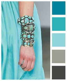 Wuthering Iris: Color Palette - Turquoise [so many ways to use turquoise. jh]