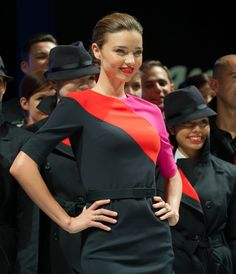 Aussie supermodel Miranda Kerr helped show off Qantas Airways' new employee uniforms, the first makeover in 10 years, conceived by homegrown designer Martin Grant. Airline Cabin Crew, Airline Uniforms, New Employee, Celebrity Travel, Miranda Kerr, Flight Attendant, Most Beautiful Women, Travel Style, Supermodels