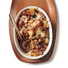 Budget Cooking: Feed 4 for $10 | Turkey Sausage, Mushroom, and Potato Gratin | CookingLight.com