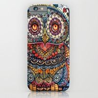 iPhone 6 Cases featuring Magic  graphic owl  painting by oxana zaika