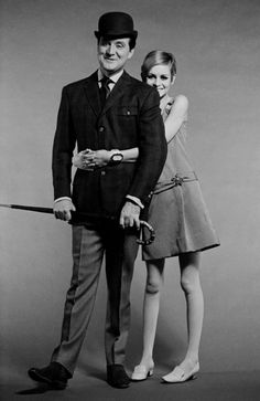 Twiggy with John Steed, 1960s