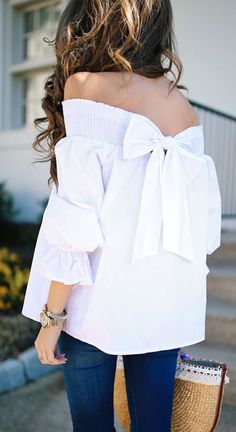8d013009376d6 Want credit to Stitch Fix  White Off The Shoulder Top ...