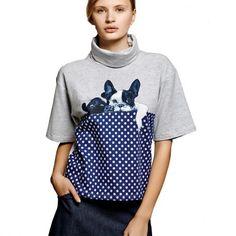 764b05a1390c2 Camiseta Gris Y Marino Serigrafia de Dolores Promesas. Camiseta  GrisSudaderasCamisetasMarinoRopa De Mujer