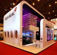 Careful use of space and height ensured the stand was in line with the Virgin Atlantic brand