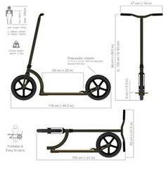 Exploded view of a Swifty Scooter - Salvabrani Wooden Scooter, Scooter Bike, Kick Scooter, Scooter Parts, Electric Bike Kits, Electric Scooter, Scooter Design, Bicycle Design, Build A Go Kart