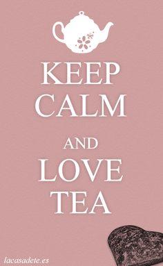 Nuestro cartel de Keep calm (and love tea). Te contamos en el blog la historia de estos carteles